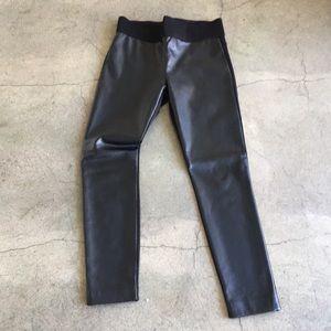 Club Monaco black pleather pant. Size 8